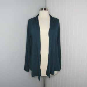 Ann Taylor LOFT | Teal Open Front Cardigan